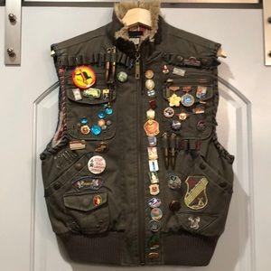 Handmade militant punk vest. Custom!!